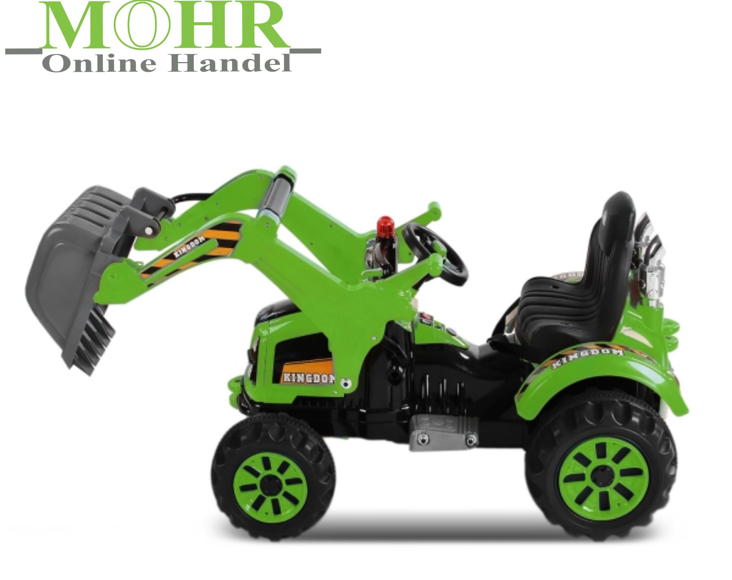 mohr onlinehandel - kinderbagger elektrobagger bagger v12 | 2x30w