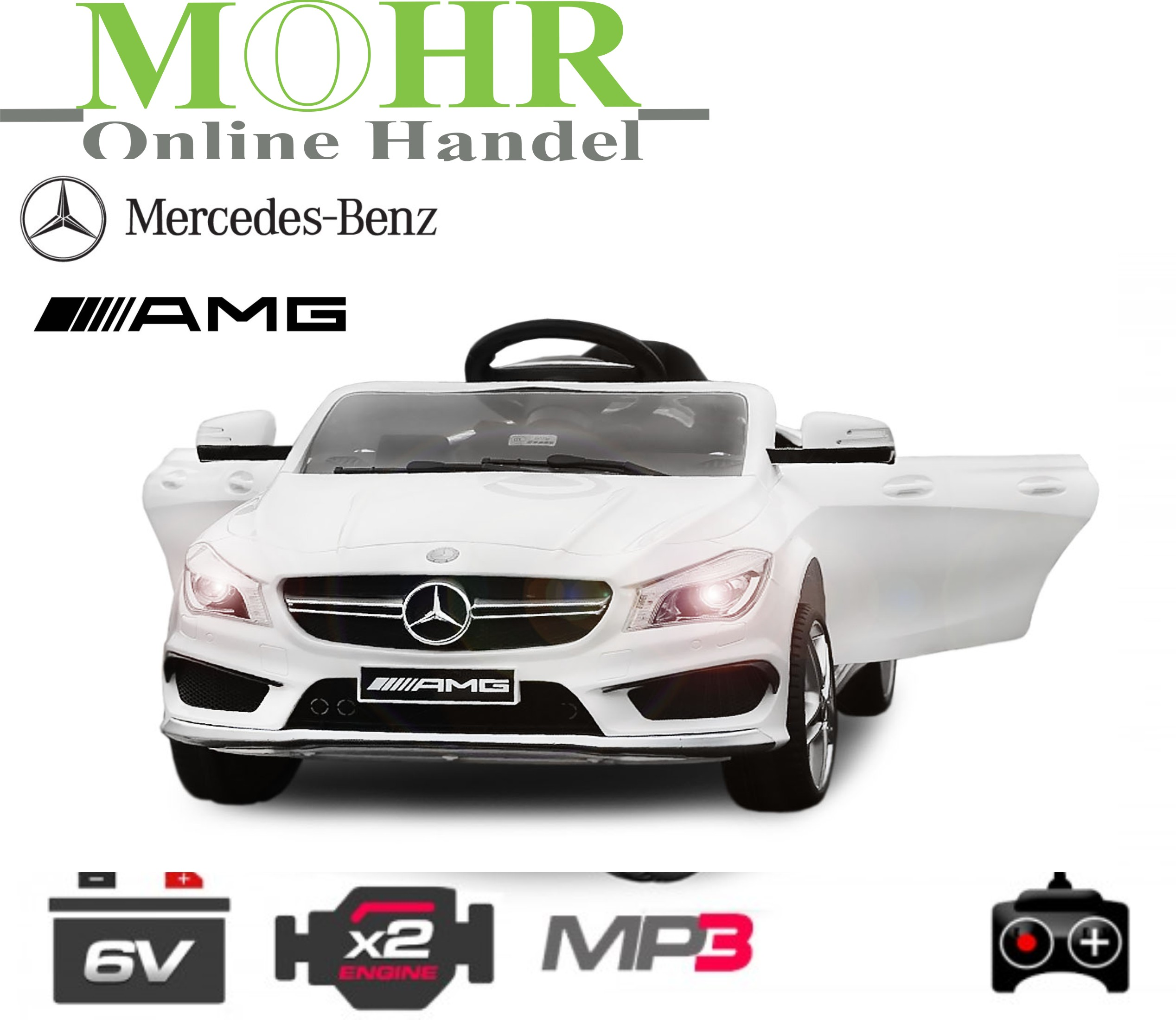 mohr onlinehandel mercedes benz cla45 kinder elektroauto. Black Bedroom Furniture Sets. Home Design Ideas